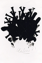 Günther Uecker, o. T., Lithografie, 1987. Quelle: Günther Uecker