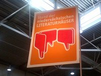 Messestand Leipzig. Foto: Literaturhaus Oldenburg